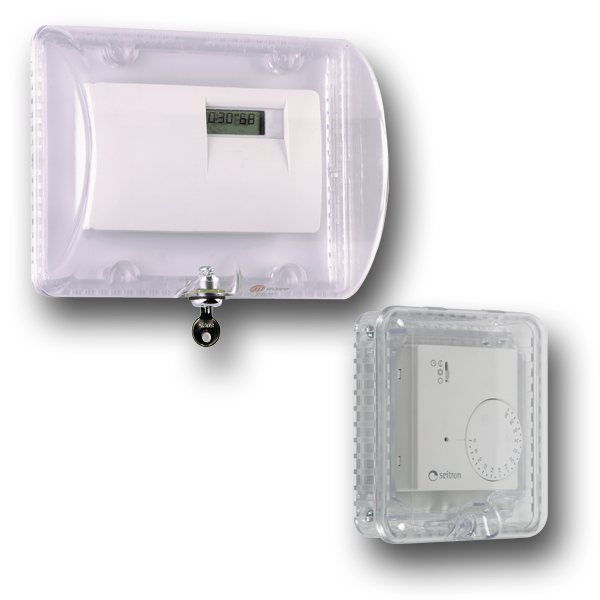 Thermostat Protective Cover with Key Lock