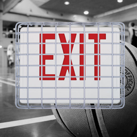 Prevent damage to exit signs